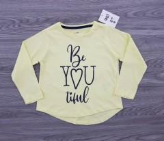 MO KIDS Girls Shirt (YELLOW) (3 to 8 Years)