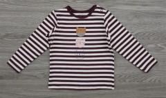 Girls Long Sleeved Shirt (BROWN - WHITE) (80 to 98 CM)