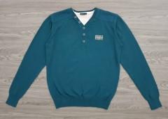 IDENTIC Mens Sweater (GREEN - BLUE) (M - L - XL - XXL)