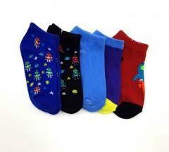 BAROTTI Boys Socks 5 Pcs Pack (RANDOM COLOR) (5 to 11 Years)