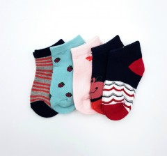 BAROTTI Girls Socks 5 Pcs Pack (RANDOM COLOR) (3 to 5 Years)