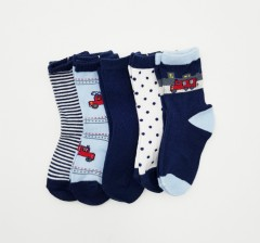 BAROTTI Boys Socks 1×5 Packs (RANDOM COLOUR) (12 to 24 Month)