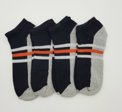 BAROTTI Mens Socks 4 Pcs Pack (BLACK - GRAY) (FREE SIZE)