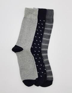 BAROTTI Mens Socks 3 Pcs Pack (RANDOM COLOR) (FREE SIZE)