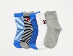 BAROTTI Boys Socks 5 Pcs Pack (RANDOM COLOUR) (3 to 5 Years)