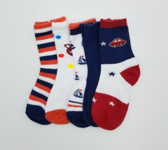 BAROTTI Boys Socks 5 Pcs Pack (AS PHOTO) (3 to 5 Years)