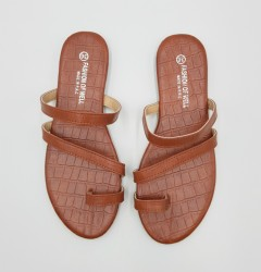 FASHION OF WELL Ladies Sandals Shoes (BROWN) (36 to 41)