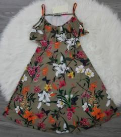 TOPSTARZZ Ladies Turkey Dress (GREEN) (S - M - L)