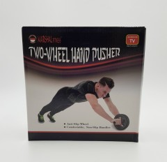 MARSHAL FITNESS Two Wheel Hand Pusher (BLACK) (MFX-915)