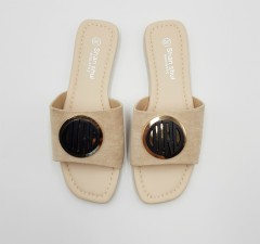 SHAN SHUI Ladies Sandals Shoes (CREAM) (36 to 41)