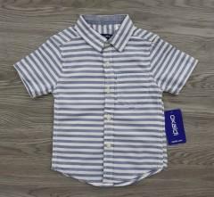 OKAIDI Boys Shirt (GRAY-WHITE) (12 Month to 6 Years)