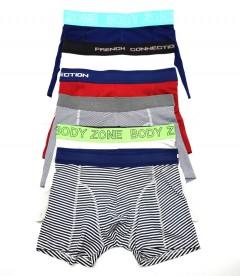 H & B Mens Boxer Shorts 3 Pcs Random Pack (RANDOM COLOR) (S - M - L - XL)