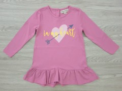 AMY & LUCY Girls Dress (PINK) (92 to 116 CM)