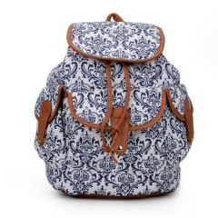 Back Pack (WHIE-NAVY) (OS) (ARC)