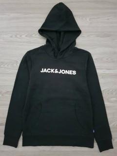 JACK AND JONES  Boys Hoodi (BLACK) (12 to 14 years)