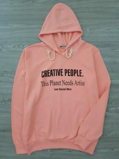 A.CASUALS Ladies Turkey Sweatshirt Printed Hoodie (PINK) (S - M - L - XL)