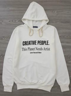 HAZARD Ladies Turkey Sweatshirt Printed Hoodie (WHITE) (S - M - L - XL)