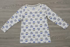 LUPILU Boys Long Sleeved Shirt (WHITE) (12 Months to 6 years)
