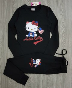 HELLOW KIITY Ladies 2 Pcs Pyjama Set ( BLACK ) ( S - M - L - XL )