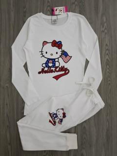 HELLOW KIITY Ladies 2 Pcs Pyjama Set ( WHITE ) ( M - L )