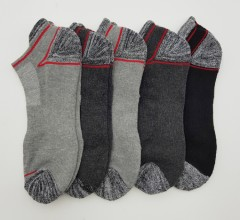 FITTER FIT FOR ME Mens Socks 5 Pcs Pack (BLACK - GRAY) (FREE SIZE)