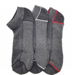 FITTER FIT FOR ME Mens Socks 3 Pcs Pack (GRAY) (FREE SIZE)