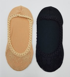 PROACTIVE Ladies Foot Liners 2 Pcs Pack (CREAM - BLACK) (FREE SIZE)