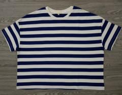 EARTH Ladies T-shirt (NAVY - WHITE) (S - M - L -XL )