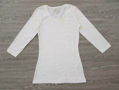 BASIC Ladies Blouse (WHITE) (34 to 48 EURO)