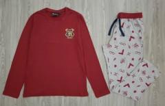 HARRY POTTR Mens 2Pcs Pyjama Set (MAROON - GRAY) (M - L - XL - XXL)