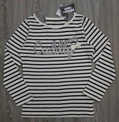 LOVE POWERS Girls Long Sleeved Shirt (WHITE-BLACK) (130 to 160 CM)