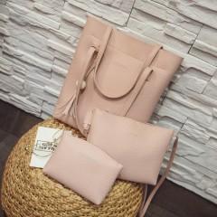Ladies 3 Pcs Bags (LIGHT PINK) (OS)