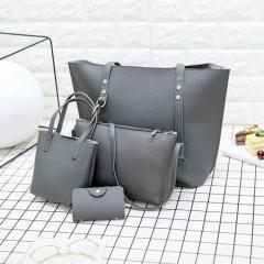 Ladies 4 Pcs Bags (DARK GRAY) (Os)