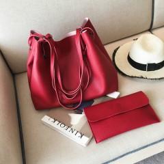 Ladies 2 Pcs Bags (RED) (OS)