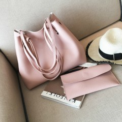 Ladies 2 Pcs Bags (PINK) (OS)