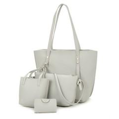 Ladies 4 Pcs Bags (WHITE) (Os)