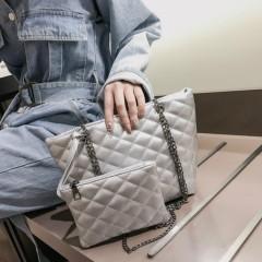 Ladies 2 Pcs Bags (WHITE) (Os)