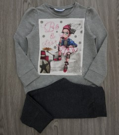 MAYORAL Girls 2 Pcs Pyjama Set (GRAY-DARK GRAY) (92 o 116 CM)