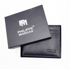 PHILIPPE MORGAN Mens Wallet (BLACK) (OS)