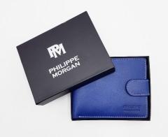 PHILIPPE MORGAN Mens Wallet (BLUE) (OS)