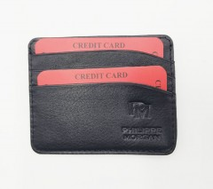 PHILIPPE MORGAN Card Holder (BLACK) (OS)