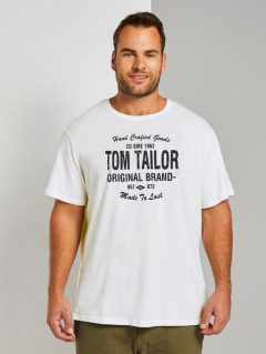 TOM TAILOR Mens T-Shirt (WHITE) (S - M - L)