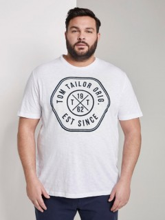 TOM TAILOR Mens T-Shirt (WHITE) (S - M)