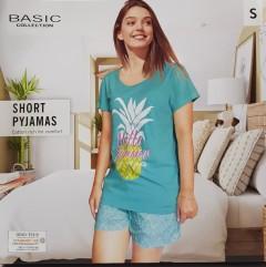 BASIC COLLECTION Ladies 2 Pcs Pyjama Set (BLUE) (S- M - L - XL)