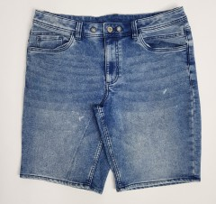 LIVERGY CASUAL FIT Mens Denim Jeans Short (BLUE) (30 to 40)
