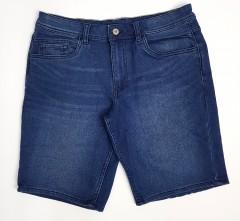 LIVERGY CASUAL FIT Mens Denim Jeans Short (BLUE) (34)