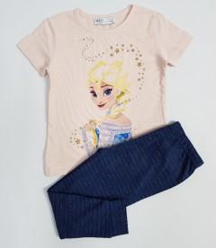 M AND S Girls 2 Pcs Pyjama Set (PINK-NAVY) (2 to 8 Years)