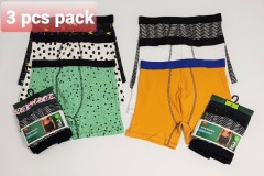 HEMA 3 Pcs Mens Long Boxer Pack (Random Color) (S - M - L - XL - XXL)