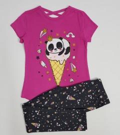 KOKO AILIS Girls 2 Pcs Pyjama Set (PINK-GRAY) (2 to 8 Years)