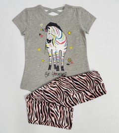 KOKO AILIS Girls 2 Pcs Pyjama Set (GRAY) (4 to 6 Years)